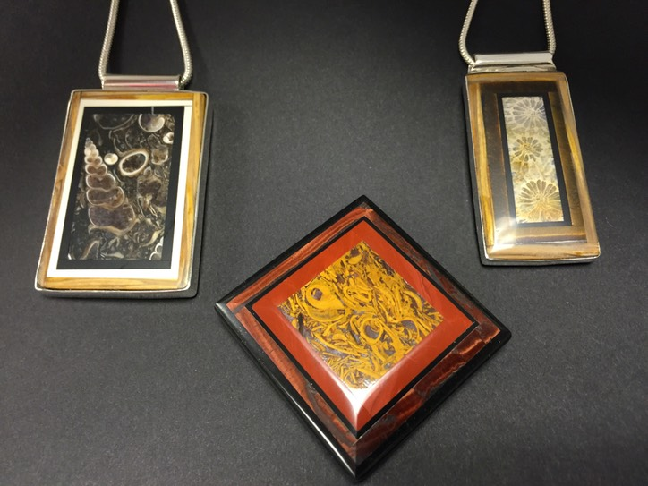 Intarsia Inlay Pendants